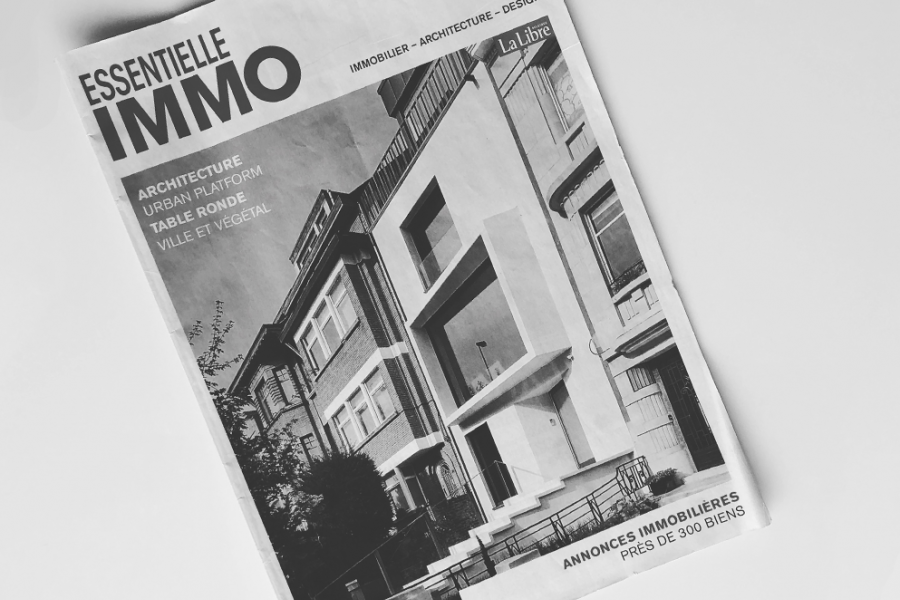 Cover page in Essentiel Immo for our Castel project