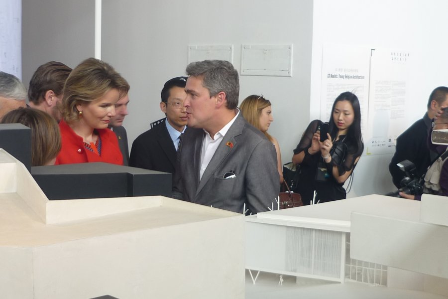 Queen Mathilde visiting us at the Shenzen's Biennale