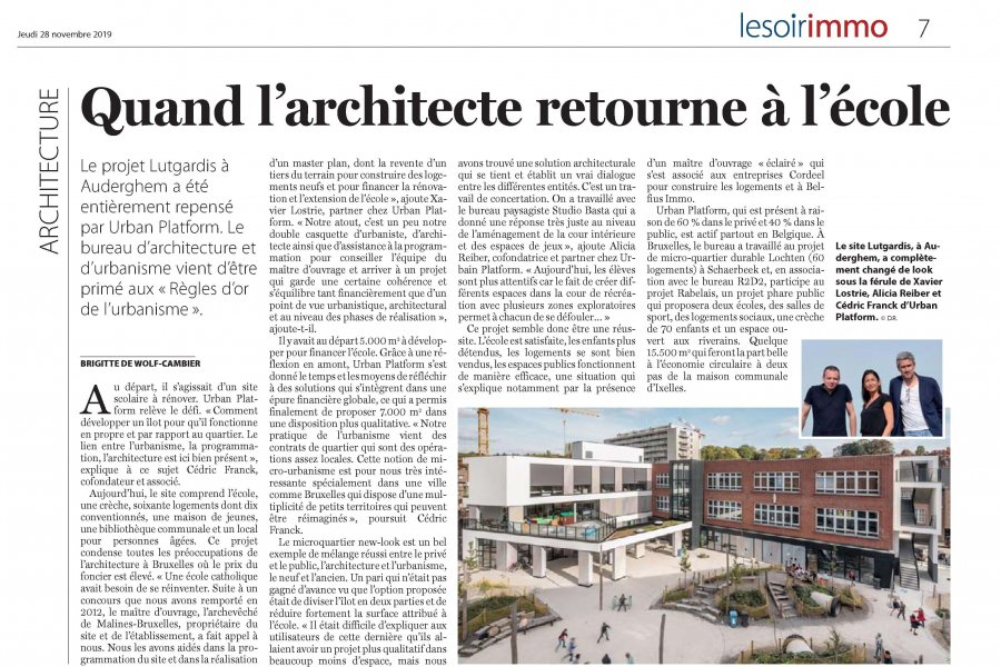 Nice article regarding our project Lutgardis in Auderghem in
